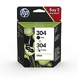 HP 304 3JB05AE - Pack de 2 Cartuchos de Tinta Originales Negro y Tricolor, compatible con impresoras...