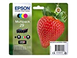 Epson C13T29864012 - Cartucho de tóner para XP235, negro, amarillo, magenta, cian, paquete...