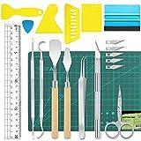 19 piezas de vinilo herramientas de deshierbe accesorios de plotter de acero inoxidable HTV + 1...