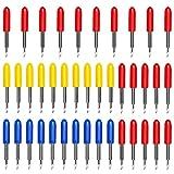 Dreamtop 40 unidades 30/45/60 grados Roland cortador de vinilo cuchillas de repuesto para Explorar...