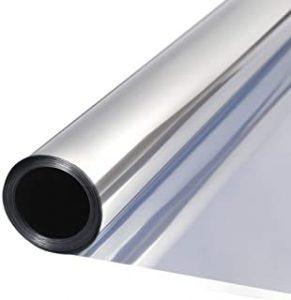 TTMOW Vinilo Pet Película Adhesiva Lámina de Espejo para Ventanas Cristal Unidireccional Protector de Privacidad Anti 99%